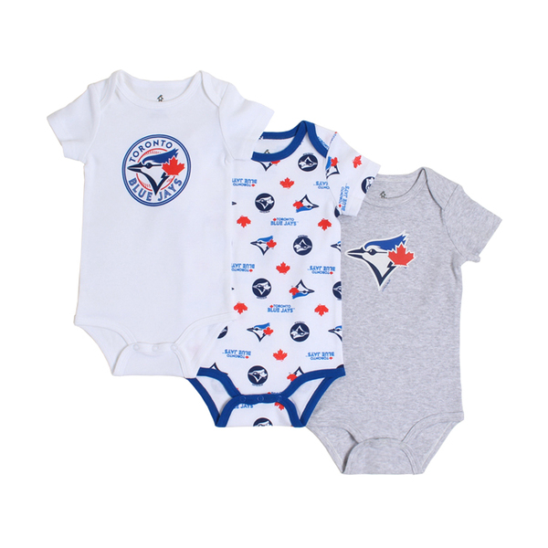 Toronto Blue Jays Infant Bodysuits Set by Gertex