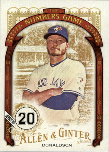Photo of 2016 Topps Allen and Ginter The Numbers Game #NG89 Josh Donaldson