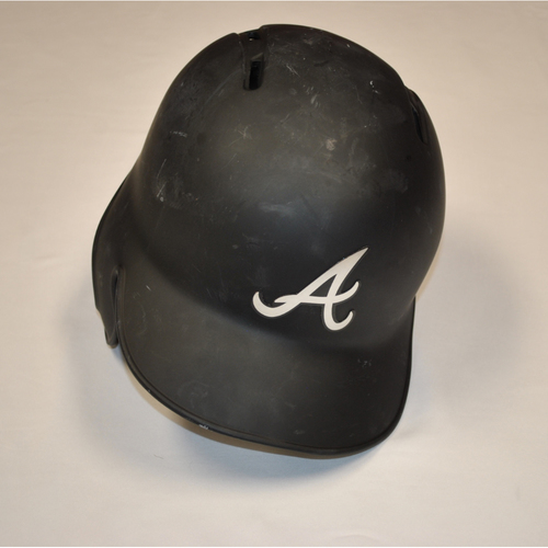 "Photo of Billy ""BONE"" Hamilton Atlanta Braves Game-Used 2019 Players' Weekend Helmet"