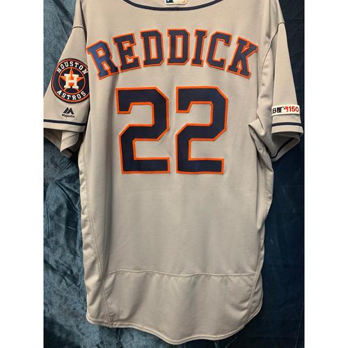Photo of 2019  Game-Used Josh Reddick Gray Road Jersey (Size 46)