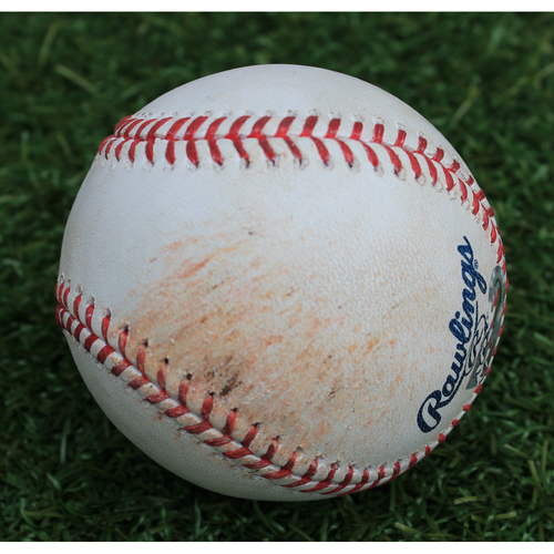 Photo of Game-Used Baseball: Jorge Soler Walk - Royals Home Run Record Breaking Game (DET @ KC - 9/3/19)