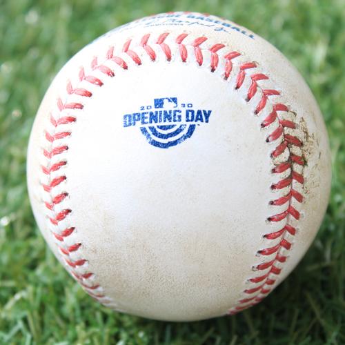 Game-Used Opening Day Baseball: Batter - McCann, Pitcher - Bubic (Debut), HBP, Top 2 (7/31/20 CWS @ KC)