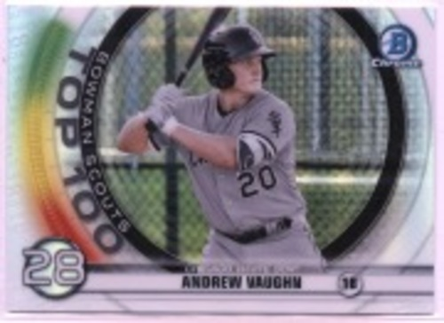 Photo of 2020 Bowman Chrome Scouts Top 100 #BTP28 Andrew Vaughn