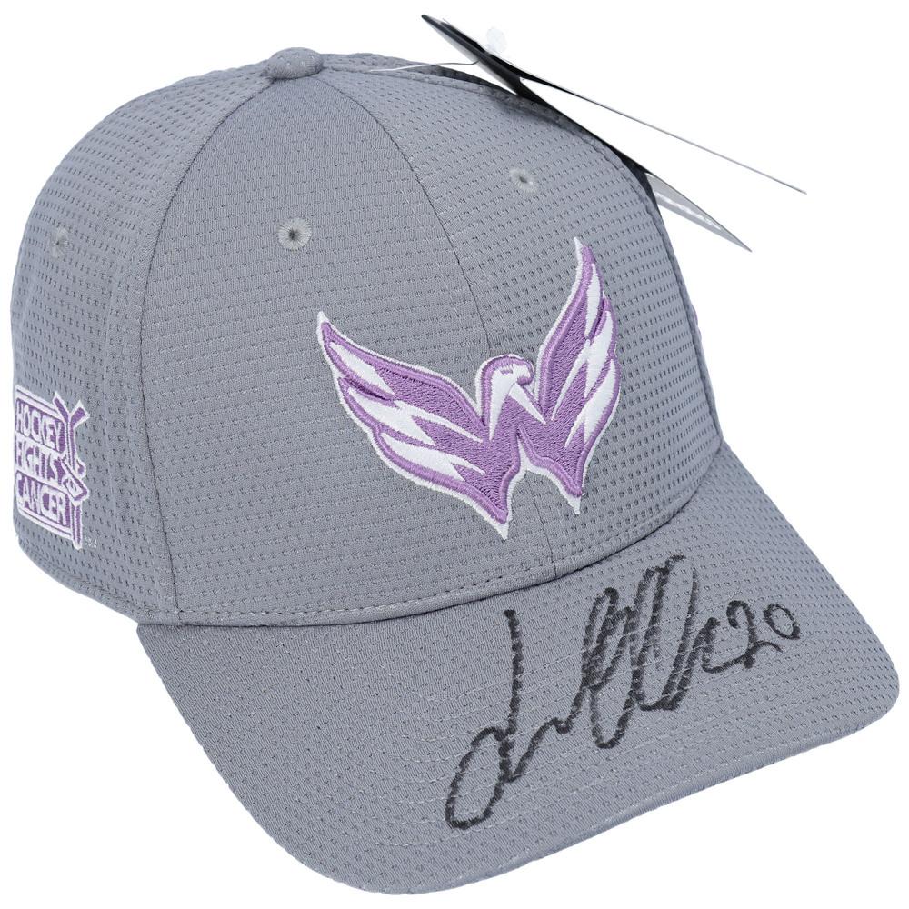 Lars Eller Washington Capitals Autographed Hockey Fights Cancer Cap - NHL Auctions Exclusive