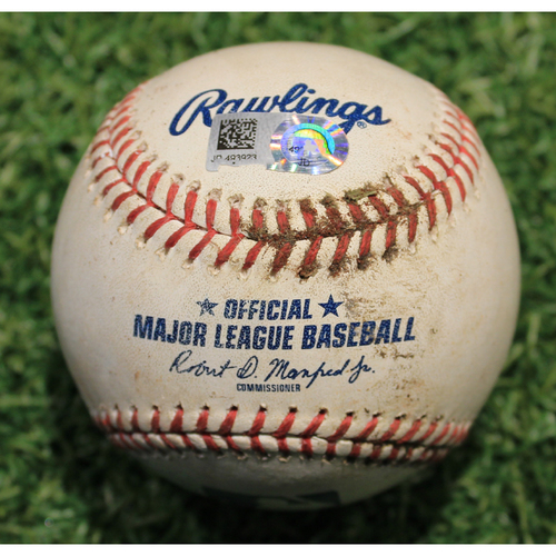 Photo of Game-Used Baseball: Franmil Reyes 35th Career Double (CLE @ KC 9/1/20)