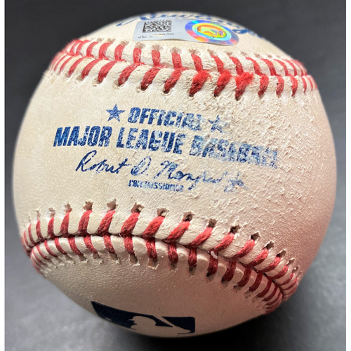 Photo of Game-Used Baseball: Francisco Lindor Cleveland Indians 2-Run Home Run (MLB AUTHENTICATED)