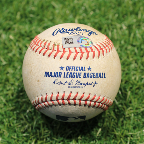 Photo of Game-Used Baseball: Miguel Sano 103rd Career Double (MIN@KC 8/21/20)