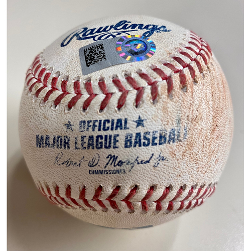 Photo of Game-Used Baseball:  Jonathan Schoop Detroit Tigers Single off of Shohei Ohtani  (MLB AUTHENTICATED)