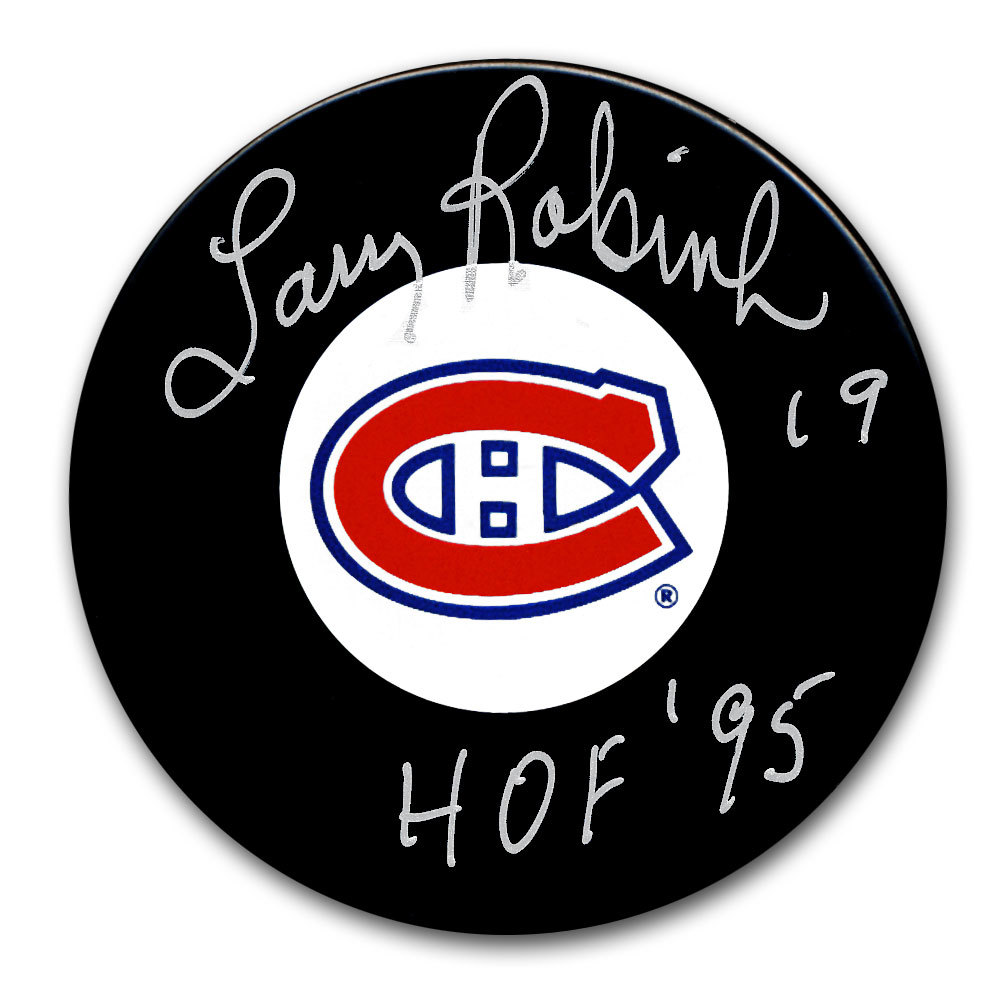 Larry Robinson Montreal Canadiens HOF Autographed Puck