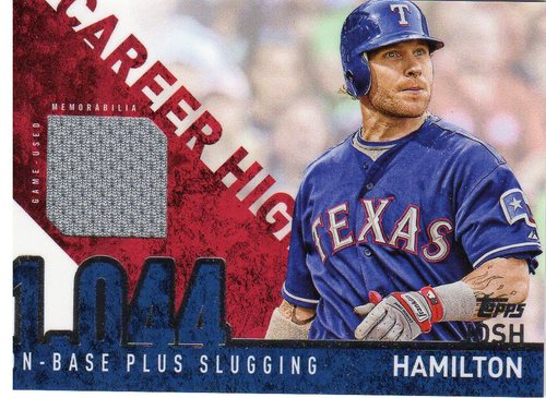 Photo of 2015 Topps Career High Relics #CHRJH Josh Hamilton S2