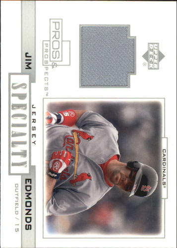 Photo of 2001 Upper Deck Pros and Prospects Specialty Game Jersey #SJE Jim Edmonds