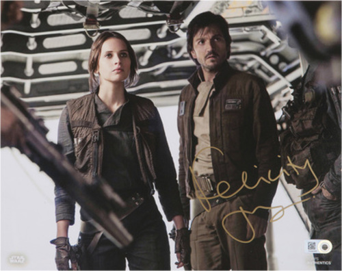 Felicity Jones as Jyn Erso 16x20 Autographed in Gold Ink Photo
