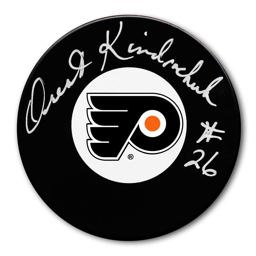 Orest Kindrachuk Philadelphia Flyers Autographed Puck