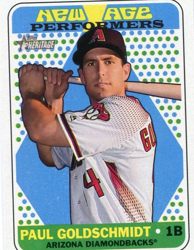 Photo of 2018 Topps Heritage New Age Performers #NAP11 Paul Goldschmidt