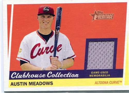Photo of 2016 Topps Heritage Minors Clubhouse Collection Relics Austin Meadows