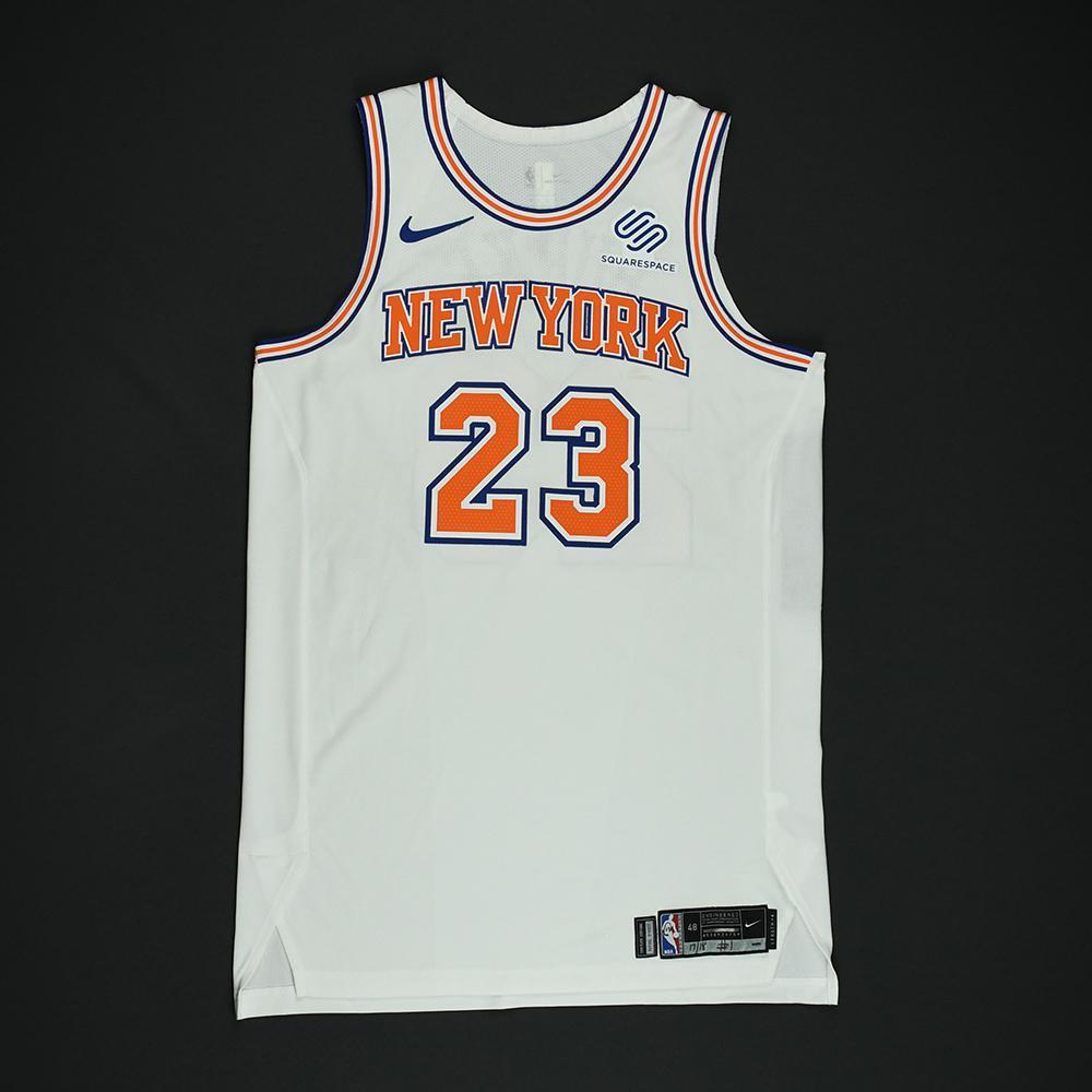 super popular 9d25f 5a3ea Trey Burke - New York Knicks - Game-Worn 'Statement' Jersey ...