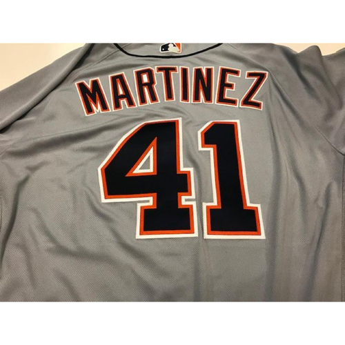 Photo of Game-Used Road Jersey: Victor Martinez