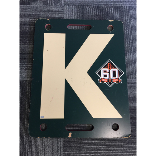 Photo of 2018 San Francisco Giants - Cream K Board - Tony Watson Strikes Out Travis Jankowski