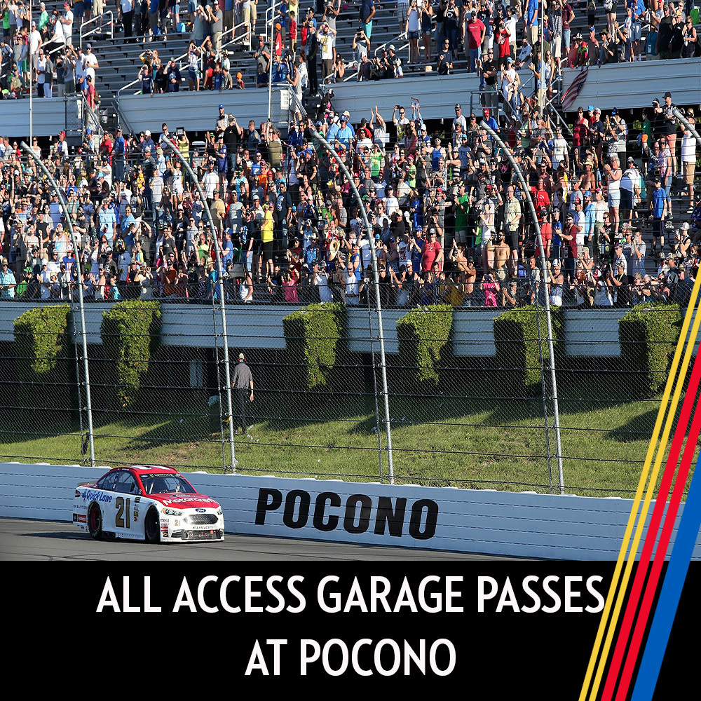 All Access Garage Passes at Pocono for the entire race weekend!