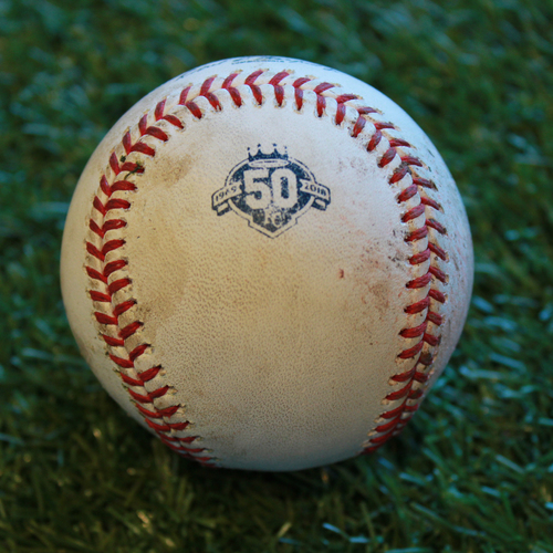 Photo of Game-Used Baseball: Robbie Grossman 437th Career Hit (MIN @ KC - 9/14/18)