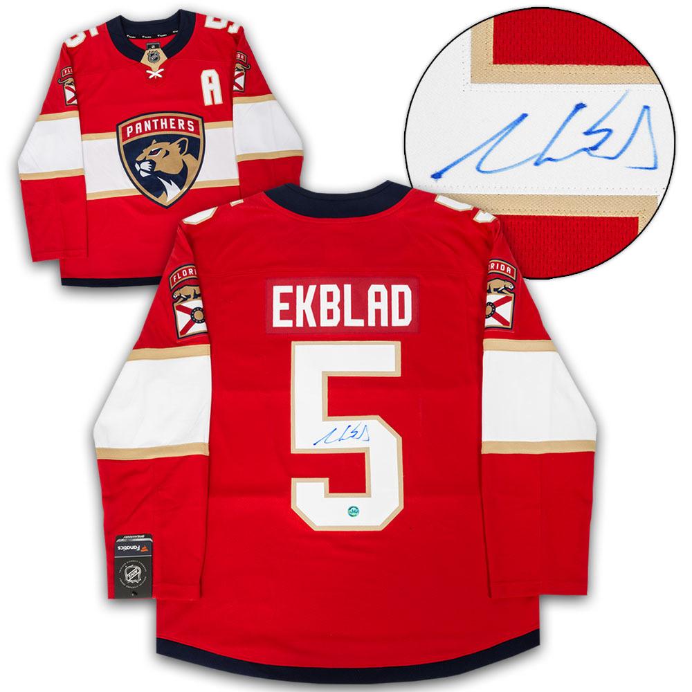Aaron Ekblad Florida Panthers Autographed Red Fanatics Hockey Jersey