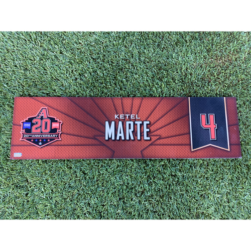 Photo of Ketel Marte 2018 Team-Issued Nameplate
