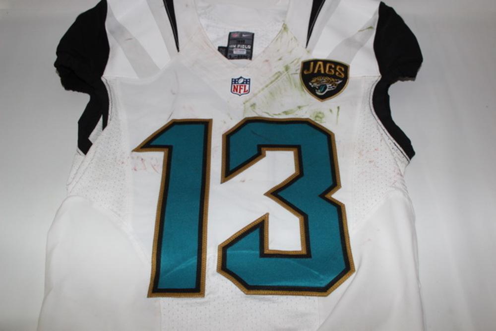 NFL Auction | BCA - JAGUARS RASHAD GREENE GAME WORN JAGUARS JERSEY ...