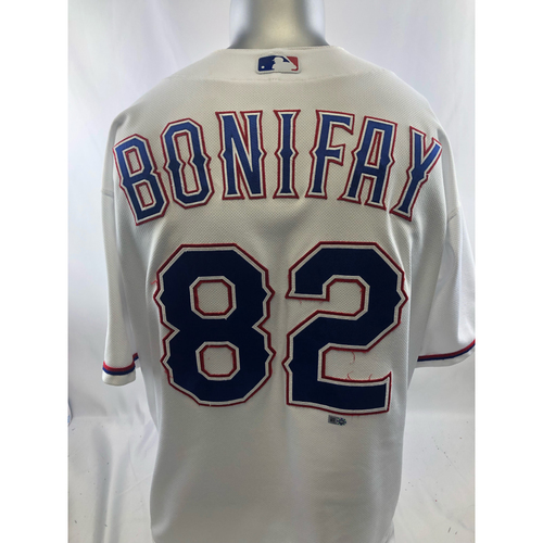 Photo of White Game-Used Jersey - Josh Bonifay