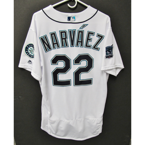 Photo of Seattle Mariners 2019 Omar Narvaez Game-Used Jersey - Edgar Martinez Hall of Fame Celebration Weekend - August 9-11
