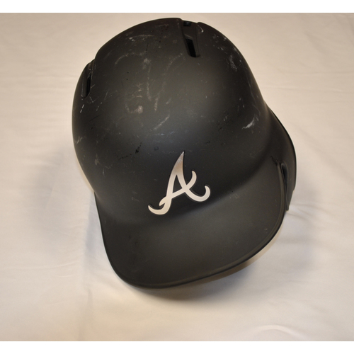 "Photo of Adam ""DUVY"" Duvall Atlanta Braves Game-Used 2019 Players' Weekend Helmet"