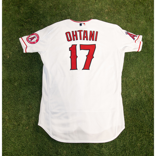 Photo of Shohei Ohtani Game-Used Jersey from 8/14/20 Game vs. LAD - Size 48TC