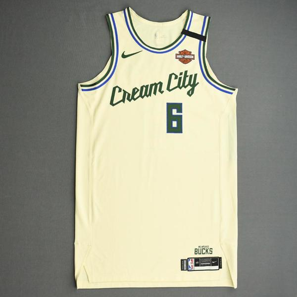 Image of Eric Bledsoe - Milwaukee Bucks - Game-Issued City Edition Jersey - 2019-20 NBA Season Restart with Social Justice Message