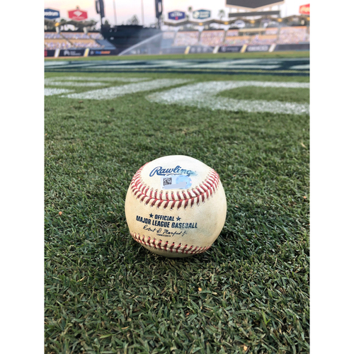 Photo of Game-Used Baseball: 2020 ALDS - Houston Astros vs. Oakland Athletics - Game 1 - Pitcher: Enoli Paredes, Batter: Sean Murphy (Fly Out to RF) - Bot 7