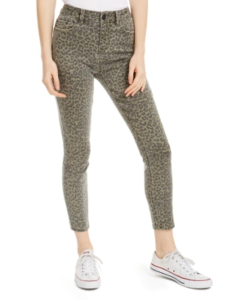 Photo of Indigo Rein Juniors' Leopard-Print Cropped Skinny Jeans