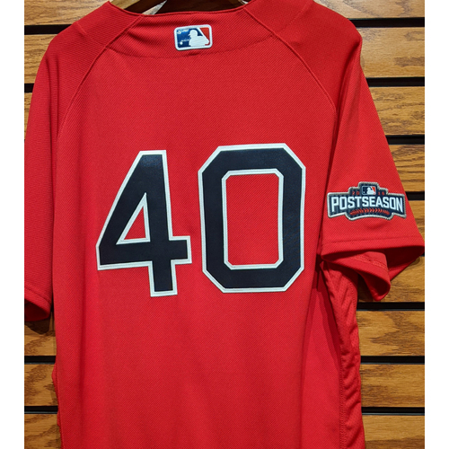 Photo of Andrew Benintendi #40 Team Issued Red Home Alternate Jersey