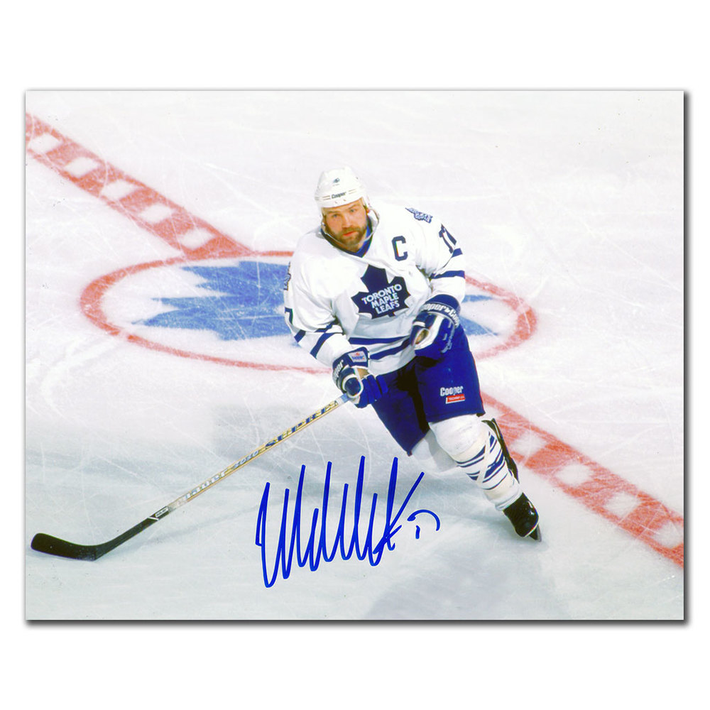 Wendel Clark Toronto Maple Leafs CENTER ICE Autographed 8x10