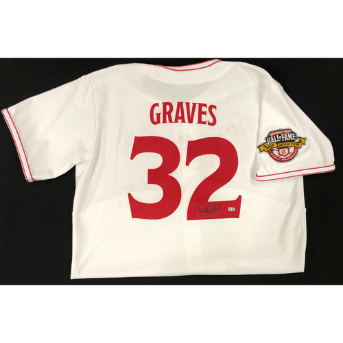 Photo of Danny Graves - AUTOGRAPHED Game Used Jersey: Reds Hall of Fame Legends Game