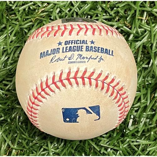 Photo of Game Used Baseball: Kevin Kiermaier single off Griffin Jax - Bottom 3 - September 5, 2021 v MIN