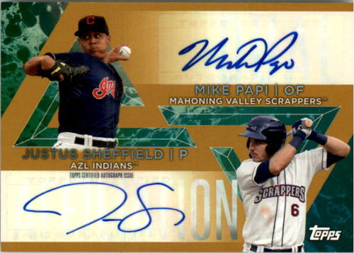 Photo of 2015 Topps Pro Debut Dual Affiliation Autographs #DAASP Justus Sheffield/Mike Papi