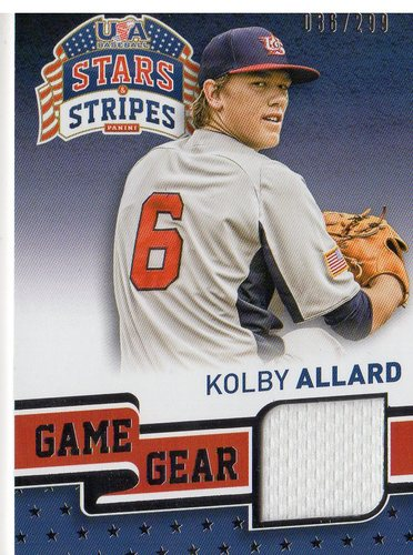 Photo of 2015 USA Baseball Stars and Stripes Game Gear Materials #55 Kolby Allard/299