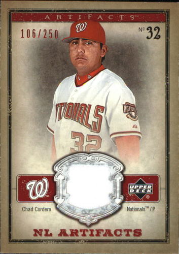 Photo of 2006 Artifacts AL/NL Artifacts Red #CHN Chad Cordero Jsy/250