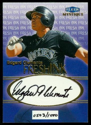 Photo of 1999 Fleer Mystique Fresh Ink #10 Edgard Clemente/1000