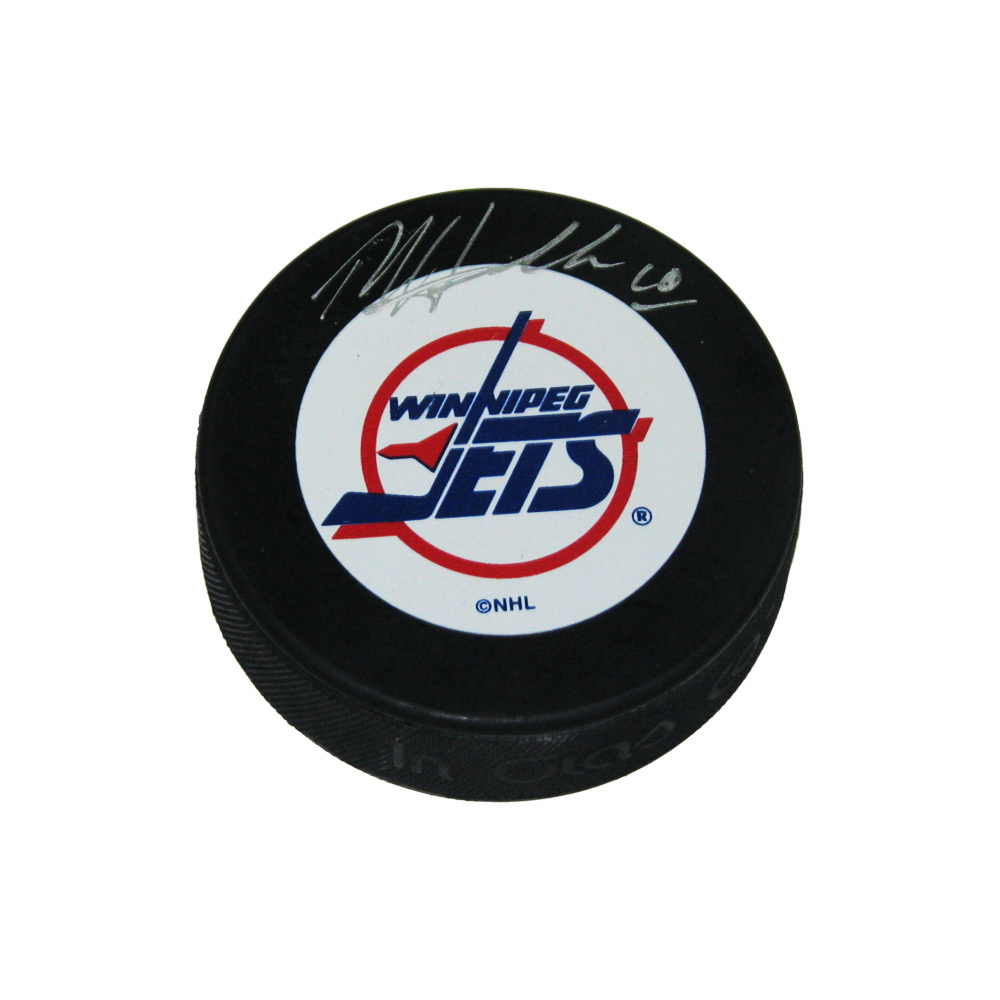 DALE HAWERCHUK Signed Winnipeg Jets Puck