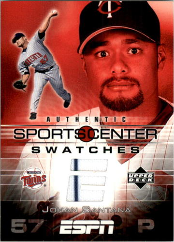 Photo of 2005 Upper Deck ESPN Sports Center Swatches #SA Johan Santana