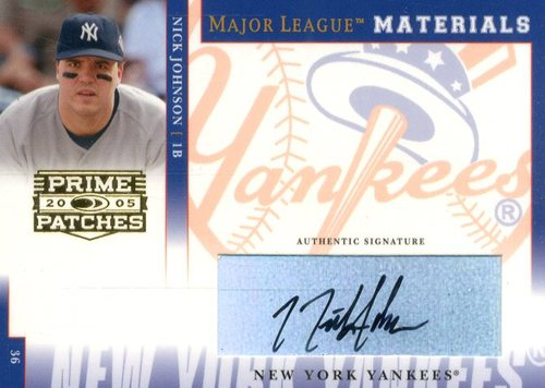 Photo of 2005 Prime Patches Major League Materials Autograph #30 Nick Johnson T4