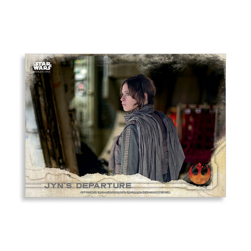 Jyn's Departure 2016 Star Wars Rogue One Series One Base Poster - # to 99