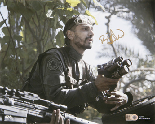 Riz Ahmed as Bodhi Rook 8x10 Autographed in Gold Ink Photo