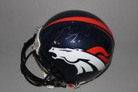 NFL - BRONCOS EMMANUEL SANDERS SIGNED BRONCOS PROLINE HELMET