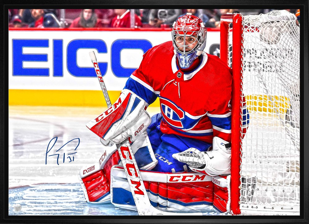 Carey Price - Signed 20x29 Framed Canvas Canadiens Red Action