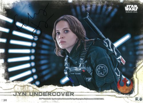 Felicity Jones as Jyn Erso 10x14 Autographed in Black Ink Wall Art - Limited Edition